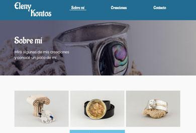 Sitio web Eleny Kontos