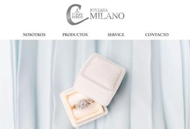Sitio web Joyería Milano