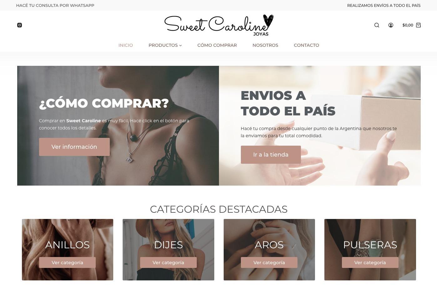 Tienda online - Sweetcaroline